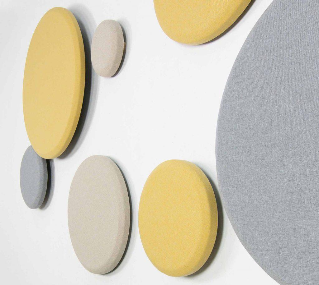 Composición paneles acústicos circulares