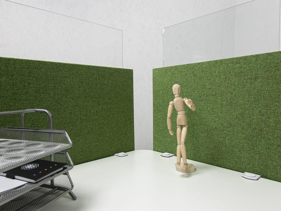 Separador de sobremesa verde